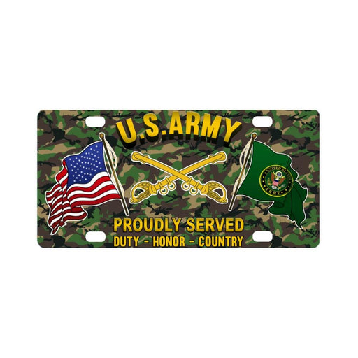 US Army Cavalry Proudly Plate Frame Classic License Plate