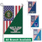 US Military Insignia With America Flag Garden Flag/Yard Flag 12 Inch x 18 Inch Twin-Side Printing
