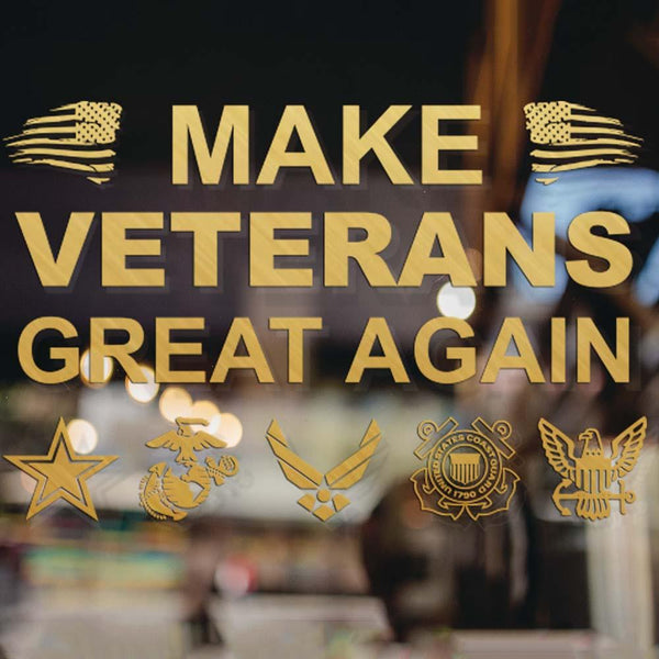Make Veterans Great Again Clear Stickers