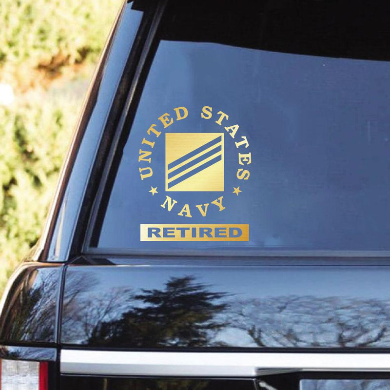 US Navy Ranks Retired Clear Stickers