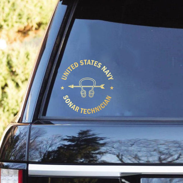 US Navy Sonar Technician ST Clear Stickers