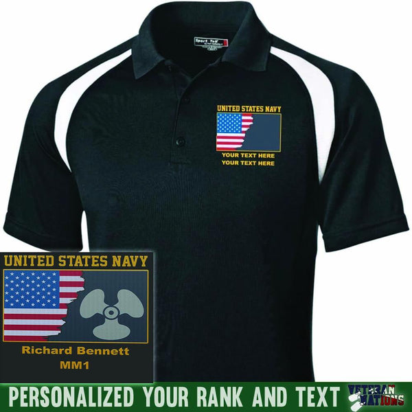 US Navy Rate - Personalized Embroidered Sport-Tek® Golf Shirt