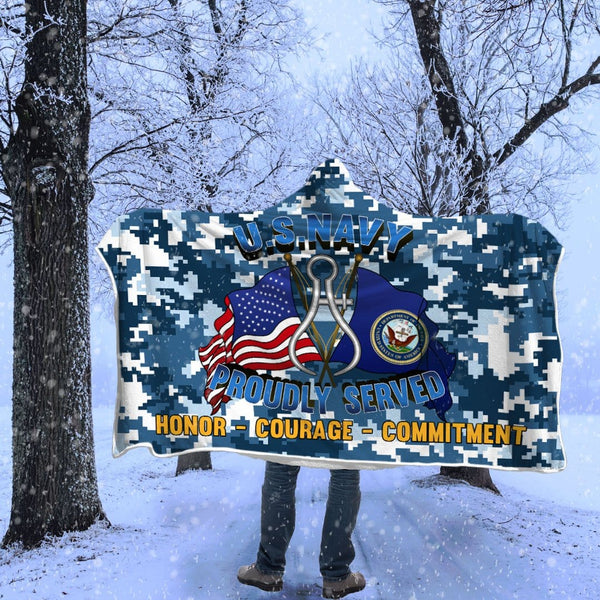 Navy Instrumentman Navy IM Proudly Served Hooded Blanket