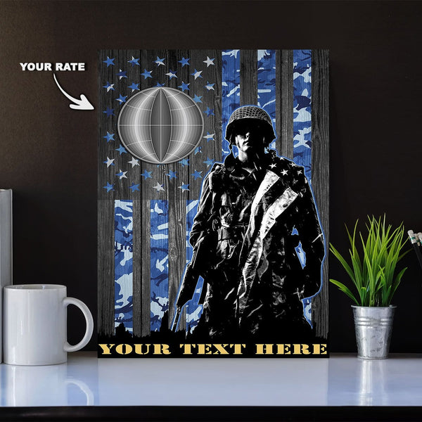 Personalized Canvas Soldier - U.S. Navy Rate - Personalized Navy Rate and Your Text