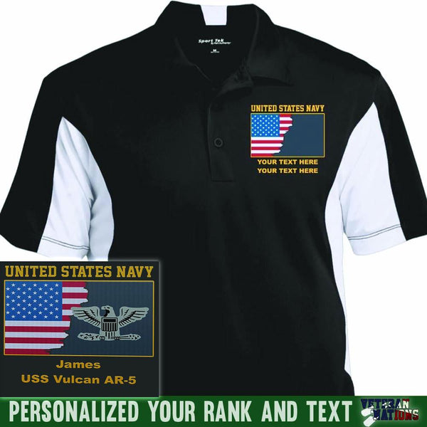 US Navy Officer - Personalized Embroidered Sport-Tek® Performance Polo Shirt