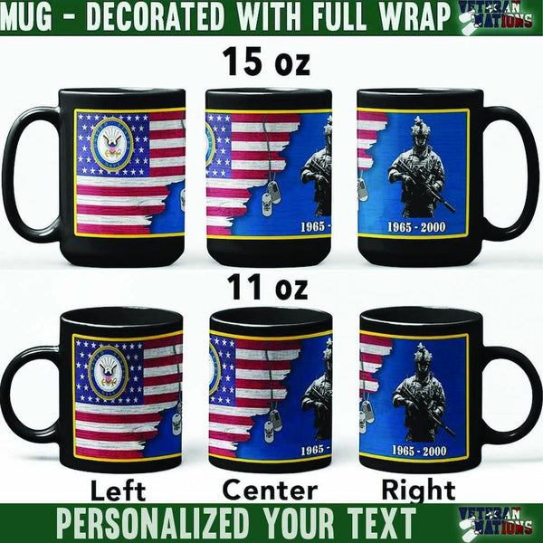 US Navy Soldier - Personalized 11oz - 15oz Black Mug