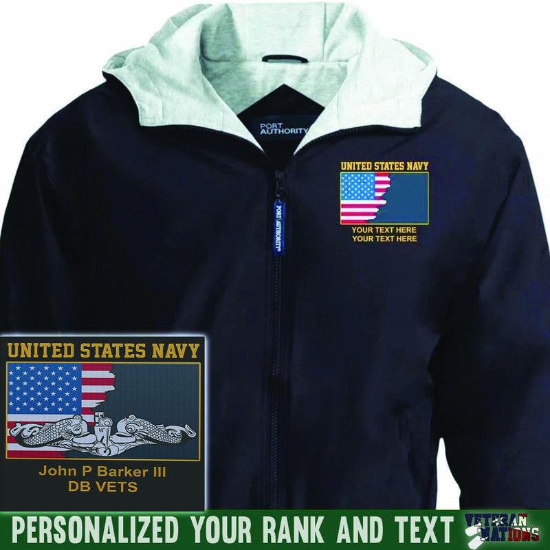 US Navy Combat Badge - Personalized Embroidered Port Authority® Team Jacket