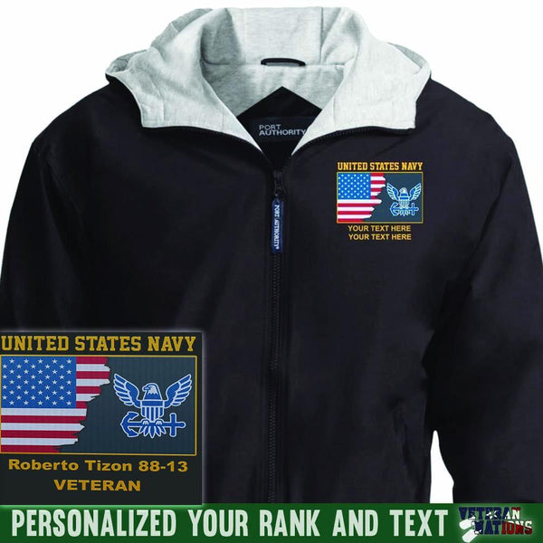 US Navy Logo - Personalized Embroidered Port Authority® Team Jacket
