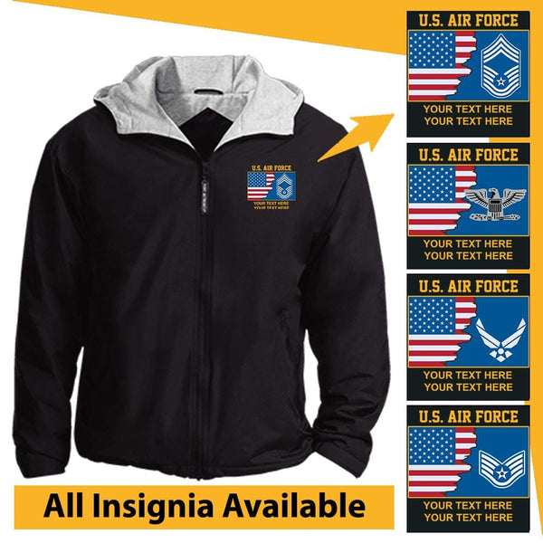 US Air Force Personalized Insignia Embroidered Team Jacket