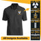 Personalized US Navy Logo/Insignia and Text - Embroidered  Polo Shirt