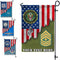 Personalized US Military Logo/Insignia and Text D01 Garden Flag/Yard Flag 12 inches x 18 inches Twin-Side Printing