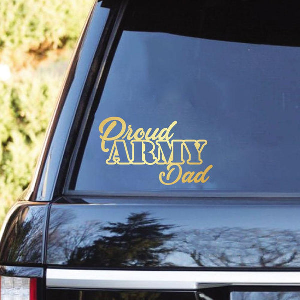 Proud Army Family Clear Stickers