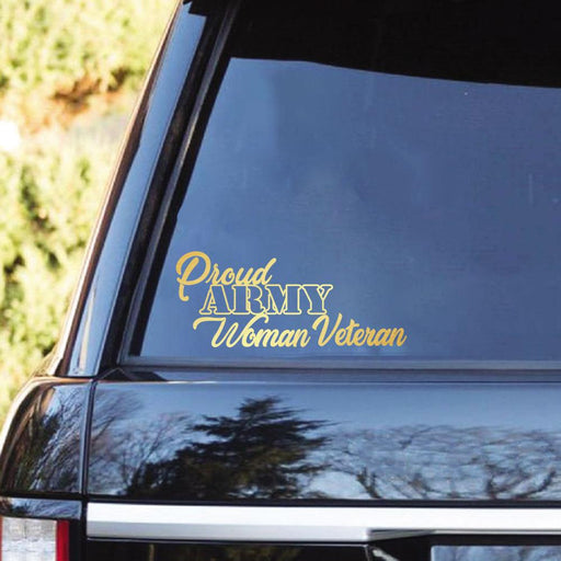 Proud Military Woman Veteran Clear Stickers