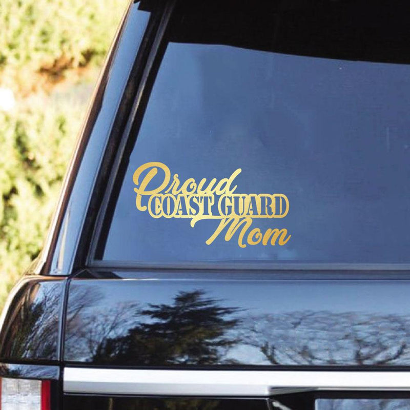 Proud US Coast Guard Family Clear Stickers