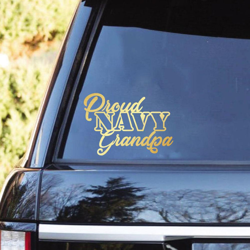 Proud Navy Family Clear Stickers