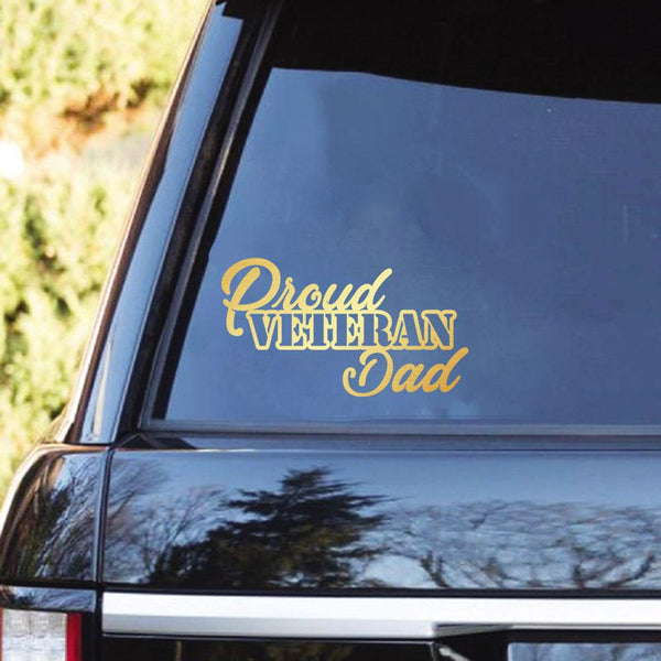 Proud Veteran Family Clear Stickers