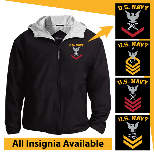 US Navy Rating Badge Embroidered Team Jacket