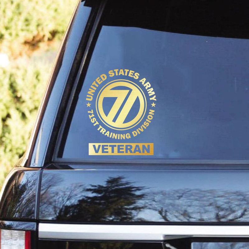 U.S. Army 71st Training Division Clear Stickers