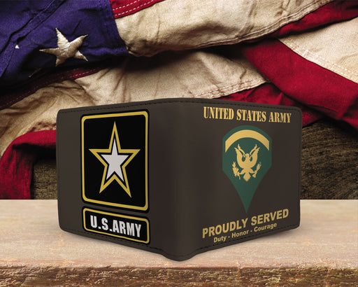 US ARMY E-5 SPC E5 SPECIALIST RANKS MENS WALLET US ARMY RANKS