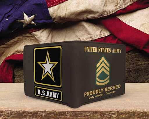 US Army E-7 Sergeant First Class E7 SFC Noncommissioned Officer Ranks Mens Wallet