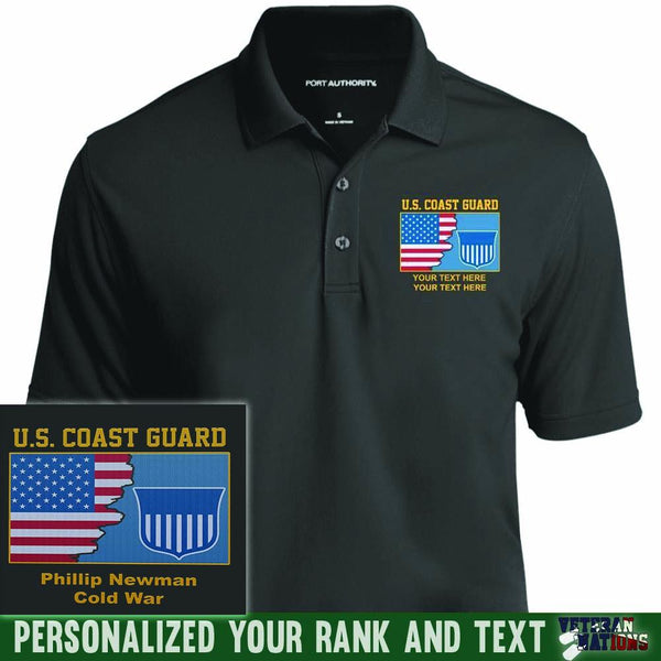 US Coast Guard Logo - Personalized Embroidered Port Authority® Polo Shirt