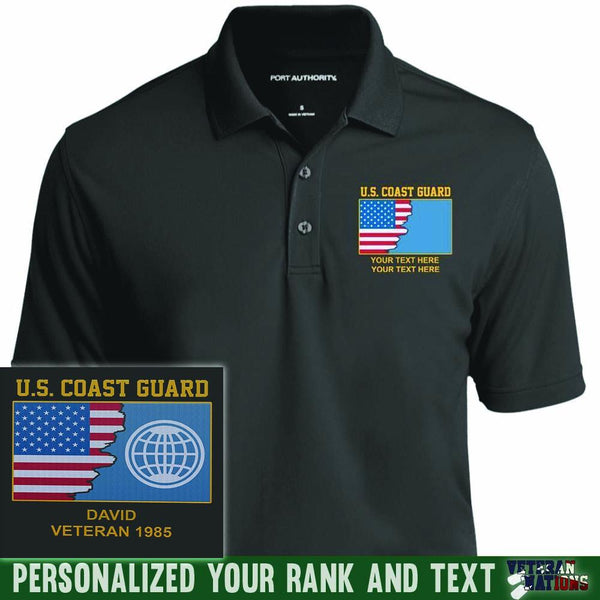 US Coast Guard Rate - Personalized Embroidered Port Authority® Polo Shirt