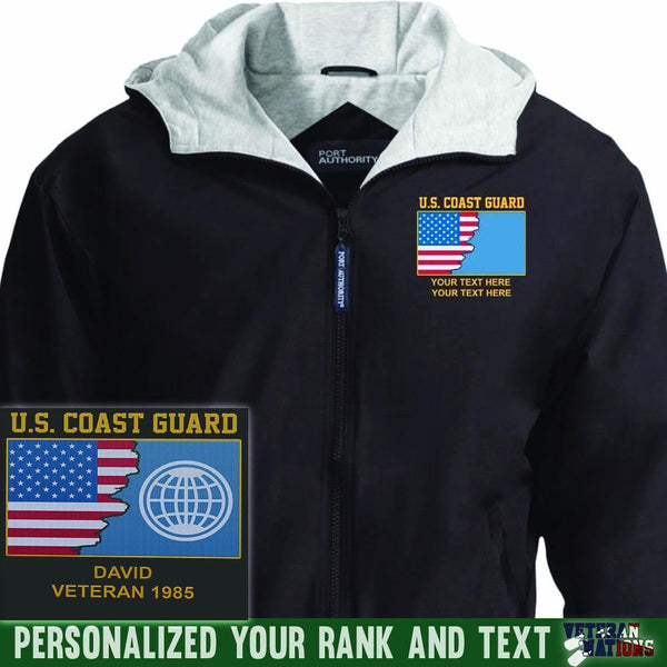 US Coast Guard Rate - Personalized Embroidered Team Jacket