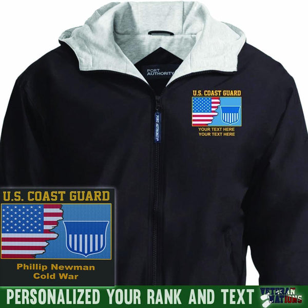 US Coast Guard Logo - Personalized Embroidered Port Authority® Team Jacket