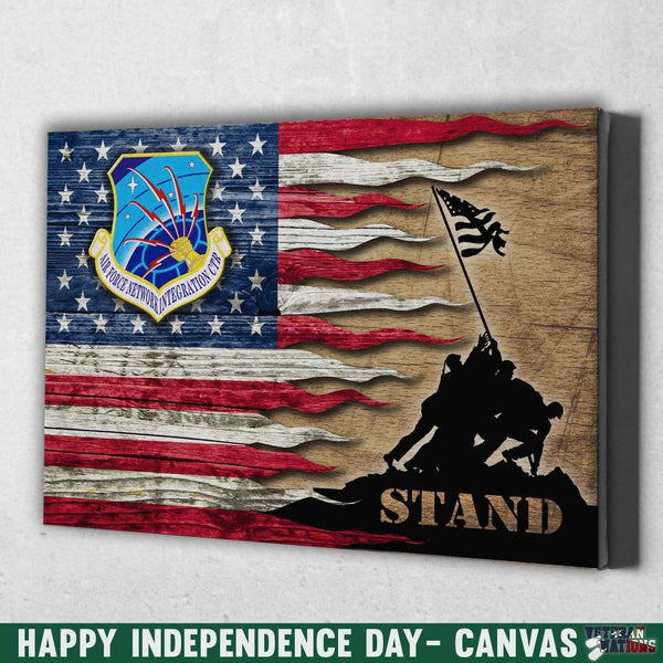 US Air Force Communications Command Stand For The Flag 24x16 Inches  Landscape Canvas .75in Frame