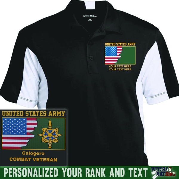 US Army Branch - Personalized Embroidered Sport-Tek® Performance Polo Shirt
