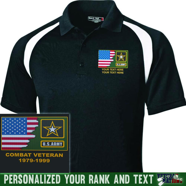 US Army Logo - Personalized Embroidered Sport-Tek® Golf Shirt