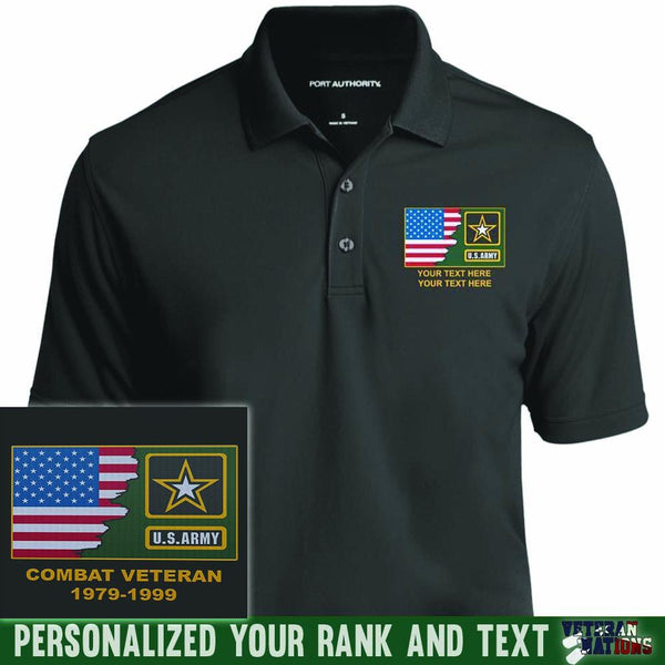 US Army Logo - Personalized Embroidered Port Authority® Polo Shirt