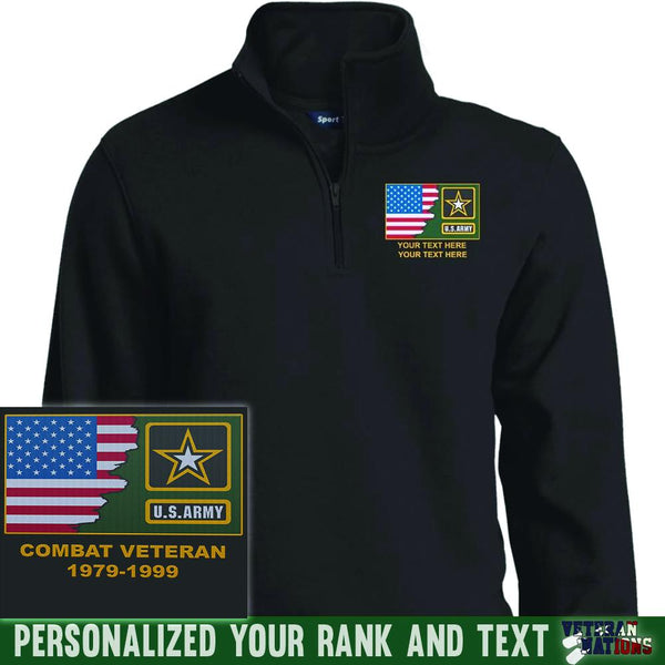 US Army Logo - Personalized Embroidered Sport-Tek® 1/4 Zip Sweatshirt