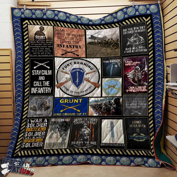 Proud US Army Infantry Blanket Quilt