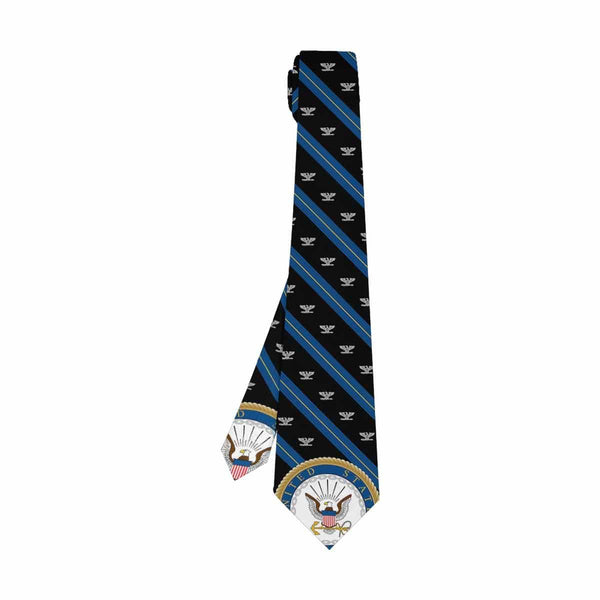US Navy O-6 Officer  Classic Necktie (Two Sides)