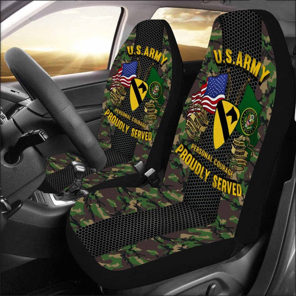 US Army 1st Cavalry Division Car Seat Covers (Set of 2)