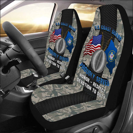 US Coast Guard Electrician's Mate EM Logo Proudly Served - Car Seat Covers (Set of 2)
