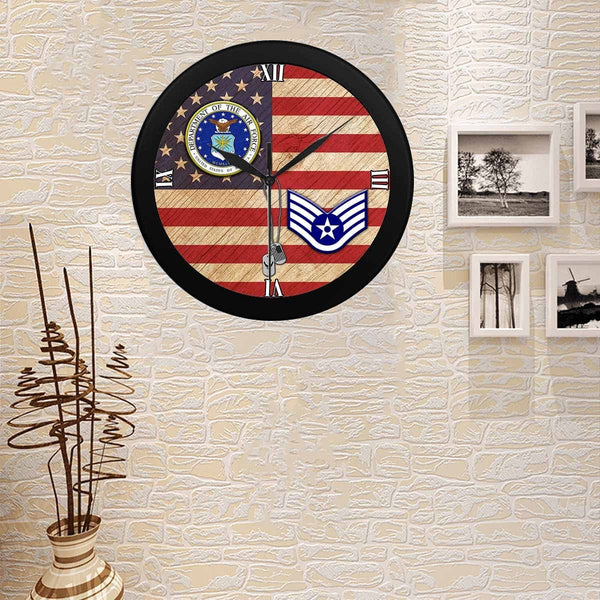 US Air Force E-5 Staff Sergeant SSgt E5 Wall Clock
