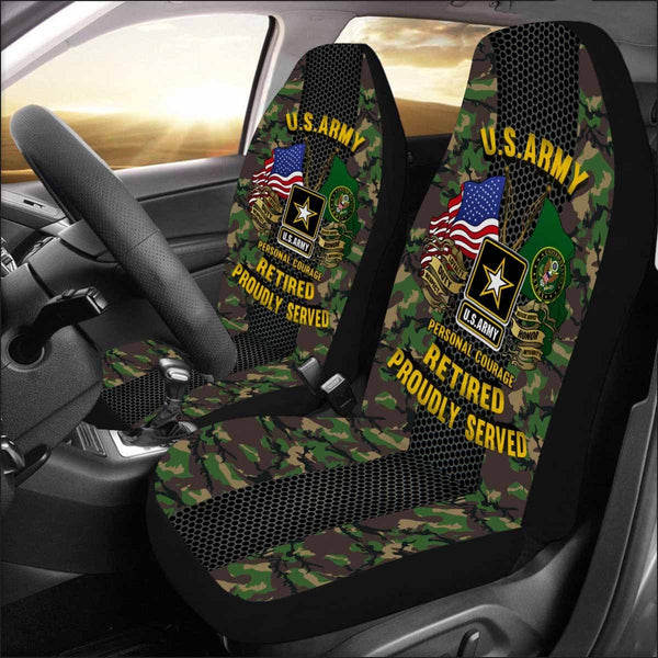 US Army Retired Car Seat Covers (Set of 2)
