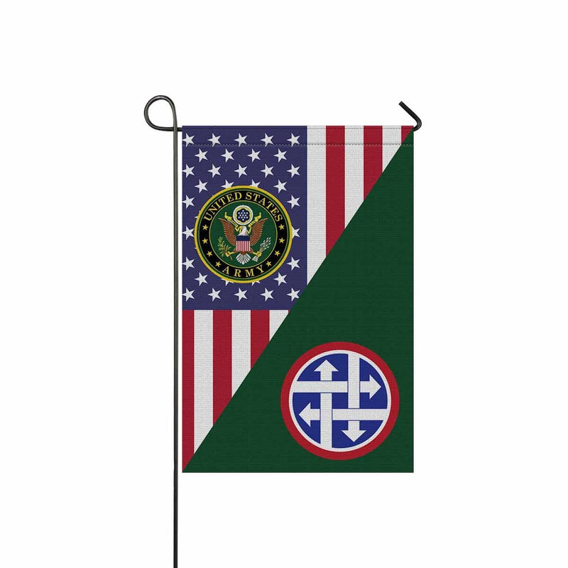 US ARMY 4TH SUSTAINMENT COMMAND Garden Flag/Yard Flag 12 inches x 18 inches Twin-Side Printing