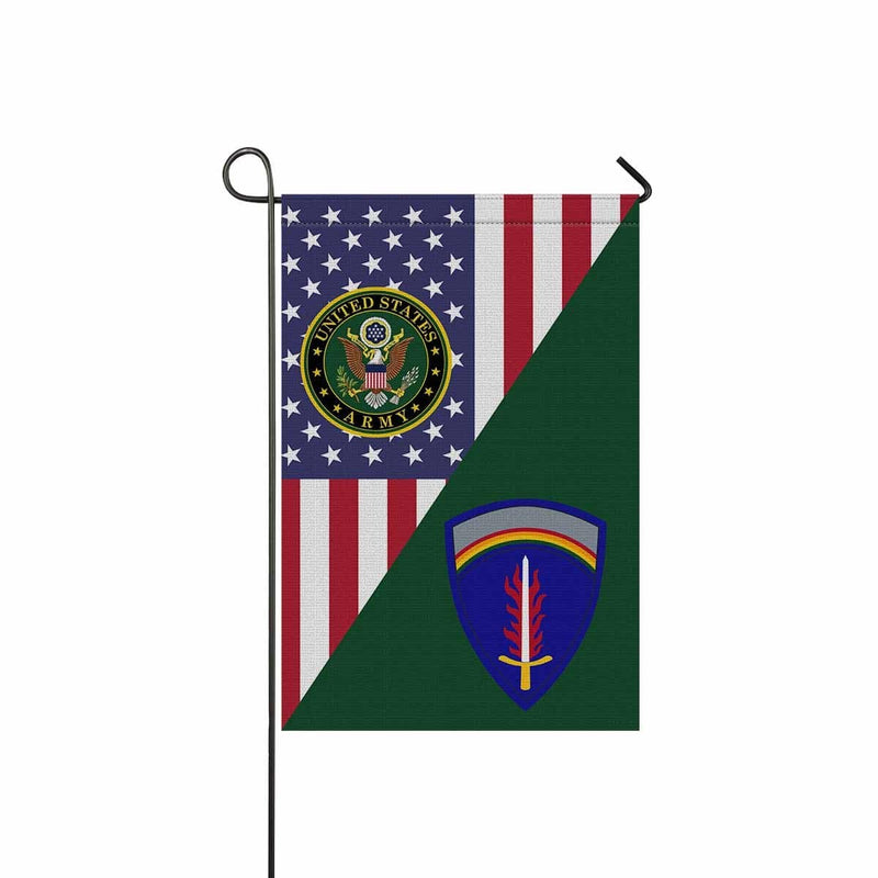 UNITED STATES ARMY EUROPE Garden Flag/Yard Flag 12 inches x 18 inches Twin-Side Printing