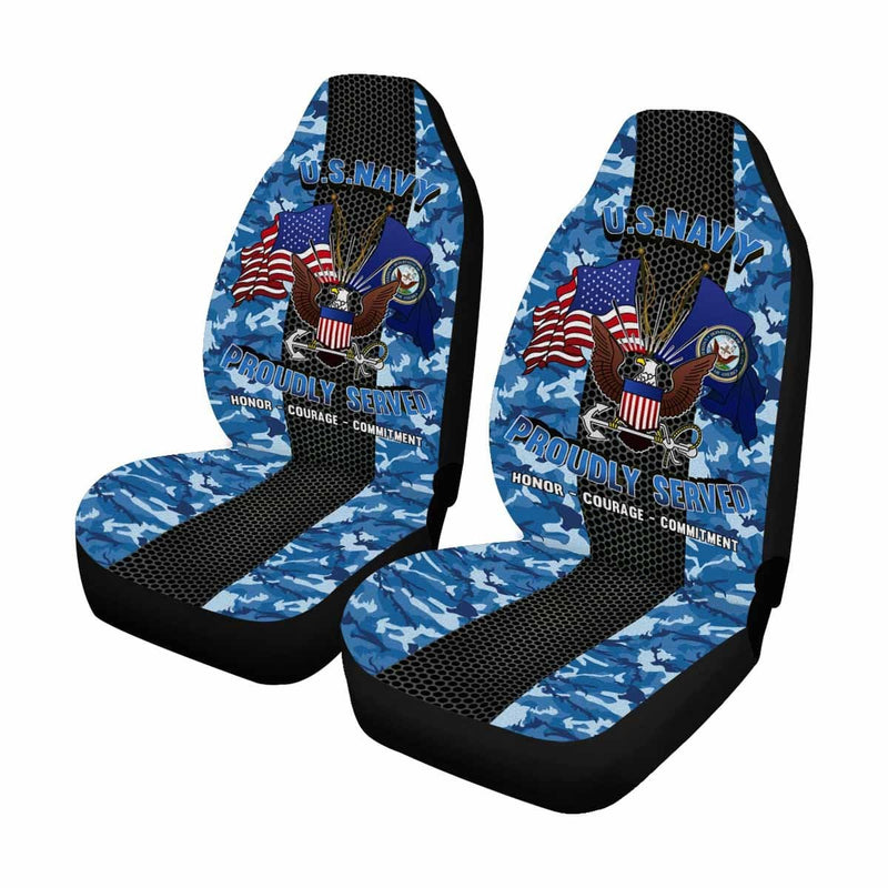 U.S Navy Logo - Car Seat Covers (Set of 2)