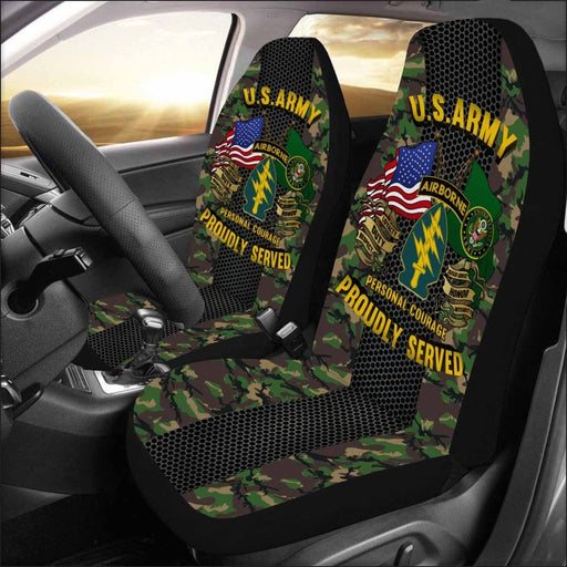 US Army Special Forces Airborne Car Seat Covers (Set of 2)