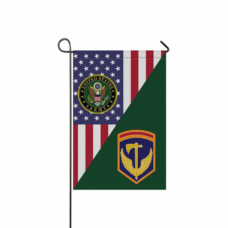 US ARMY 42ND REGIONAL SUPPORT GROUP Garden Flag/Yard Flag 12 inches x 18 inches Twin-Side Printing