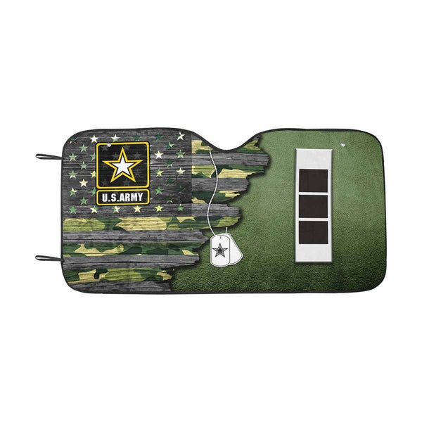 US Army W-3 Chief Warrant Officer 3 W3 CW3 Warrant Officer Ranks  Auto Sun Shade 55 Inches x 29.53 Inches