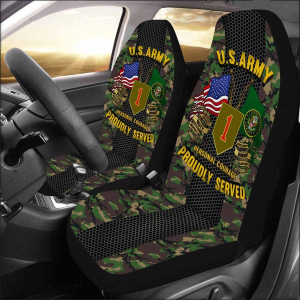 US Army 1st Infantry Division Car Seat Covers (Set of 2)