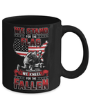 Stand for the flag- Kneel for the fallen