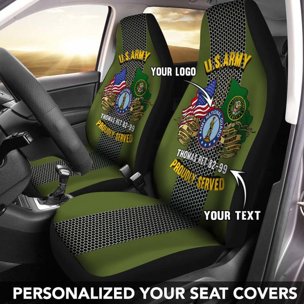 U.S Army Branch - Personalized Car Seat Covers (Set of 2)