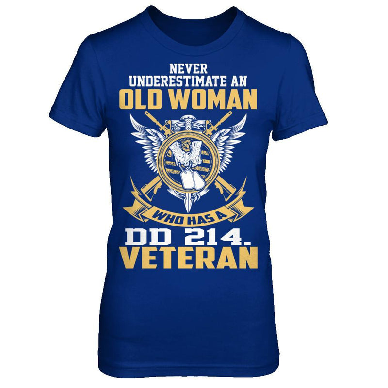 Old Woman Veteran With DD214 T Shirt