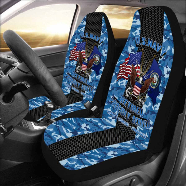 US Navy Retired Car Seat Covers (Set of 2)
